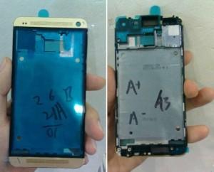 Hình ảnh HTC One màu vàng tương tự iPhone 5S