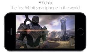 Chip A7 trên iPhone 5s dẫn đầu về công nghệ trên điện thoại di động cầm tay của Apple