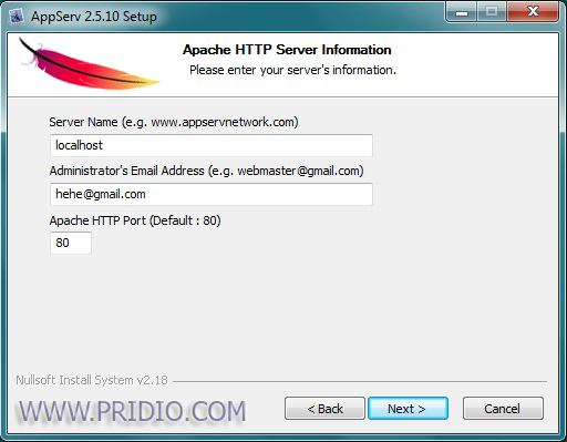 apache http server information