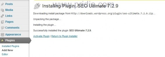 cai dat xong plugins wordpress