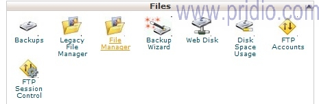 Backup File wordpress | chọn file manager