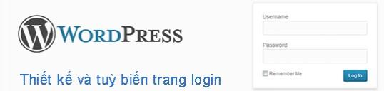 thiet ke trang login website wordpress khong dung plugin