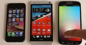 iPhone 5 vẫn được lòng hơn so với Galaxy S4 và HTC One