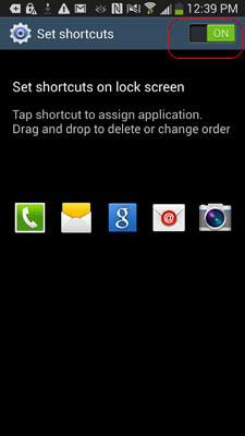 Chuyển chế độ On của Shortcuts trên Samsung Galaxy S4