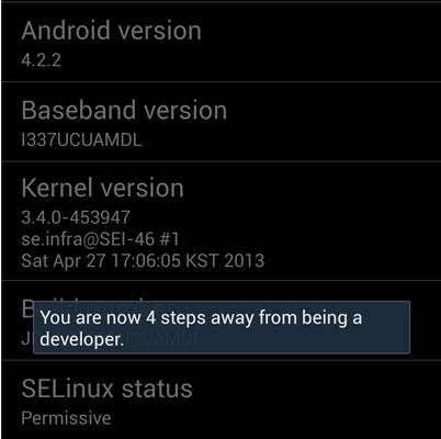 Mục thông tin về điện thoại Samsung Galaxy S4
