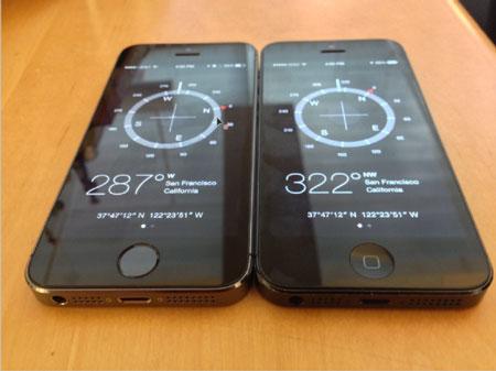 iPhone 5S bị dính lỗi với chiếc la bàn