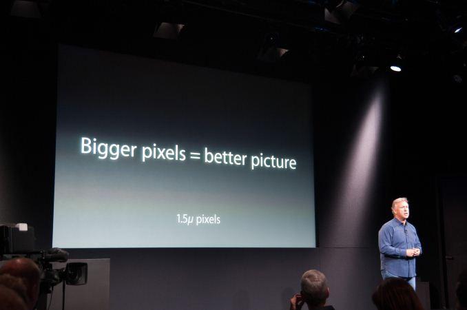 iPhone 5s thu điểm ảnh kích cỡ lớn hơn iPHone 5